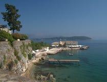 Shoreline, Corfu Town Stock Images