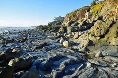 Shoreline at Cress Street Beach  in Laguna Beach, California. Stock Photos