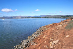 Shoreline Depicting Drop in Level of Midmar Dam Royalty Free Stock Photography