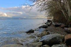 Shoreline för fjärd för engelska för Vancouver ` s Arkivfoto