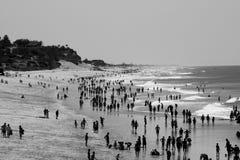 shoreline för många folk Arkivbilder