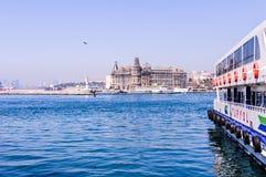 Shoreline för trans. för Istanbul stadshav Fotografering för Bildbyråer