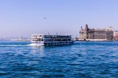 Shoreline för trans. för Istanbul stadshav Arkivfoton