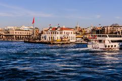 Shoreline för trans. för Istanbul stadshav Royaltyfria Bilder