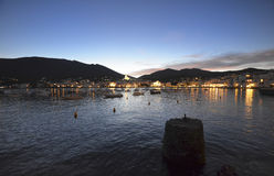 Shoreline of the famous town of Cadaques Royalty Free Stock Photo