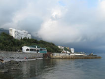 Shoreline of Foros resort, Crimea Royalty Free Stock Photo