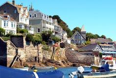 Shoreline, Fowey, Cornwall. royalty free stock photos