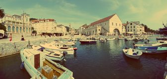 Shoreline of Hvar, Croatia Stock Images