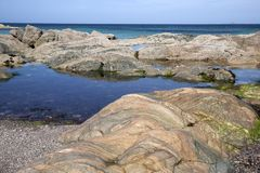 Shoreline, Iona Royalty Free Stock Photo