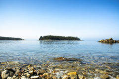 Shoreline Island Scene - Acadia National Park Royalty Free Stock Photo