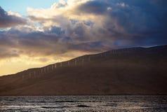 Shoreline of Kaheawa Wind Farm Stock Image