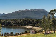 Shoreline of Lake Te Anau, New Zealand. Royalty Free Stock Photo