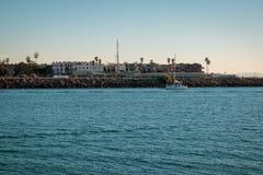Shoreline in Marina del Ray, California. royalty free stock photo