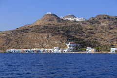 Shoreline of Milos Island Greece Stock Image