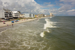 The shoreline of murrell`s inlet, florida Stock Photo