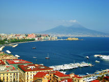 Shoreline of Naples, Italy Stock Photo