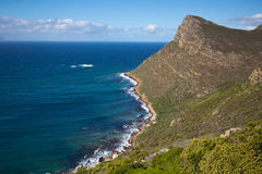 Shoreline near Cape Point, South Africa. Scenery along drive to Cape Point, Table Mountain National Park, South Africa Stock Image