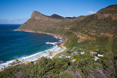 Shoreline near Cape Point, South Africa. Scenery along drive to Cape Point, Table Mountain National Park, South Africa Stock Photography