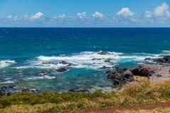 Shoreline Near Paia. A view of the sea and shoreline near Paia on Maui, Hawaii Stock Photos