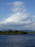 Shoreline of Oslo fjord Stock Photo