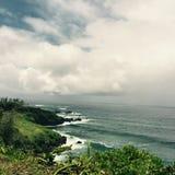 Shoreline på Maui, Hawaii Fotografering för Bildbyråer