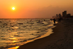 Shoreline of Panama City Beach Stock Image