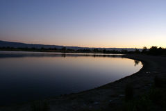 Shoreline Park Lake in evenings, Mountain View, California, USA Royalty Free Stock Photography