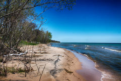Shoreline. A shoreline photo taken on lake Michigan Stock Images