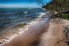 Shoreline. A shoreline photo taken on lake Michigan Stock Image