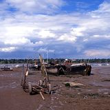 Shoreline, Pin Mill, Suffolk. Stock Images