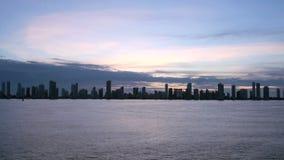 Shoreline of Playa de Boca Grande in Cartagena - Colombia stock video