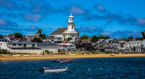 Shoreline of Provincetown, MA. Stock Photos