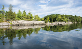 Shoreline Reflection of Northern Lake Royalty Free Stock Image