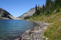Shoreline of Ring Lake. North shore of Ring Lake. British Columbia. Canada Stock Photo