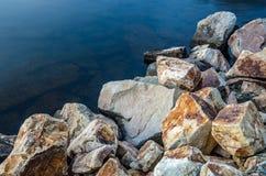 Shoreline rocheux Images libres de droits