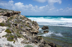 Shoreline Rock formations Royalty Free Stock Images