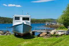 Nova Scotia Rustic Shoreline Stock Photos