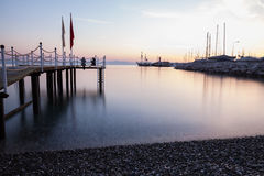 Shoreline and sea view in Kemer, Turkey Stock Photos