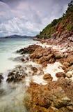 Shoreline Sharp. Stunning landscape of the island's coast Royalty Free Stock Images