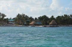 Shoreline. Shot of the coast of Belize Stock Images