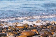 Shoreline of South Carlsbad State Beach royalty free stock photos