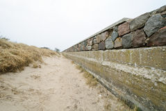 Shoreline stabilization in Prora Royalty Free Stock Photography
