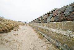 Shoreline stabilization in Prora. Shoreline stabilization of KdF seaside resort Prora on the island of Rügen in the Baltic Sea Royalty Free Stock Photography