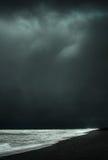 Shoreline. A storm over shoreline. Iceland .2015-06-20 Stock Image