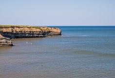 Shoreline sull'Oceano Atlantico in baia Glace, Nova Scotia fotografie stock libere da diritti