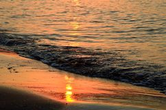 Shoreline at sunset Royalty Free Stock Images