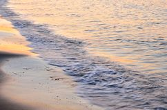Shoreline at sunset Royalty Free Stock Photography