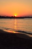 Shoreline at sunset Royalty Free Stock Photography