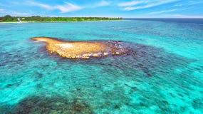 Shoreline of a tropical island Royalty Free Stock Photos