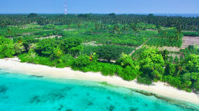 Shoreline of a tropical island Royalty Free Stock Photo